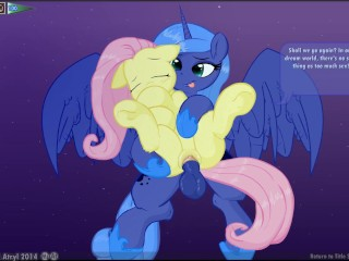 Preview 2 of Fluttershy & Luna Lucent Dreams by Mittsies and Atryl