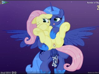 Preview 3 of Fluttershy & Luna Lucent Dreams by Mittsies and Atryl