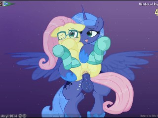 Preview 5 of Fluttershy & Luna Lucent Dreams by Mittsies and Atryl