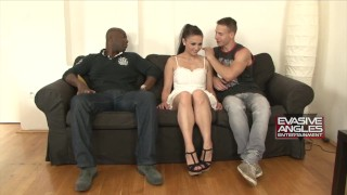 White Cuckold Drinks BBC's Cum From Girlfriend's Asshole  ass fuck cuckold interracial bald pussy cum drinking bbc cuckold cleanup cuckold blowjob butt 3some anal anal gape pussy licking angles evasive hot brunette