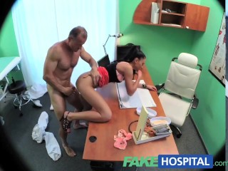 Tits Hooked To Machines Fakehospital Sexy Sales Lady Makes Doctor Cum Twice As They Strike A Deal