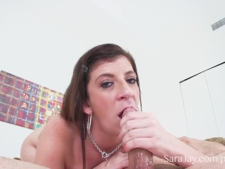 Sara Jay Teases and Pleases A Big Cock