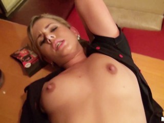 Beautiful Downblouse Fucking, beautiful blonde barmaid gets fucked Babe Blonde Pornstar Teen Small T