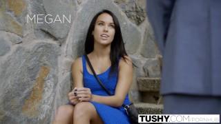TUSHY My Girlfriend Megan Rain Gets Fucked in the Ass by the Neighbor! Dark español
