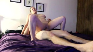 Ashley Rides Reverse Cowgirl & Gets Fucked Hard In Missionary, Big Naturals 3some cock