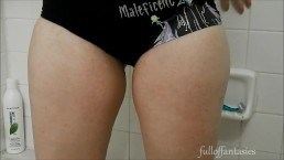 Pissing in Cute Maleficent Panties!