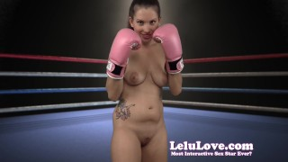 Lelu Love-Naked Boxing FemDom Bitch  makeup homemade boxing hd femdom amateur solo lelu fetish domination natural-tits gloves brunette lelu-love socks lipstick ponytail