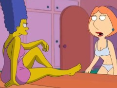 Lesbian crossover Marge Simpson and Lois Griffin