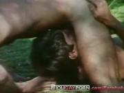 Vintage 1970s Gay Threeway in the Grass - THE SINS OF JOHNNY X