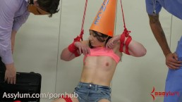 Dunce Girl Taught a Brutal Anal Lesson