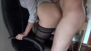 Double Penetration with Big Strap on in Ass and Cock in Pussy and squirting  strap on ass fuck homemade dp strapon amateur hardcore squirting fisting rough anal orgasm doggystyle double penetration dp strap on and cock squirt
