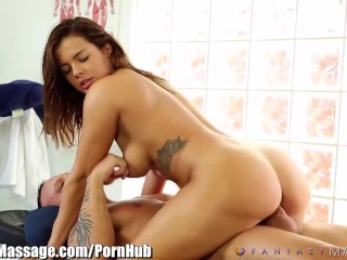 FantasyMassage Keisha Grey gets on Top