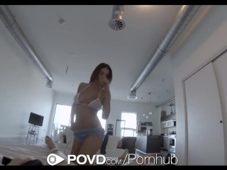 Preview 2 of POVD - August Ames gets her ass slapped and fucked
