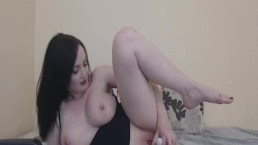 Big Tits French Babe Solo Fucking Her Wet Pussy