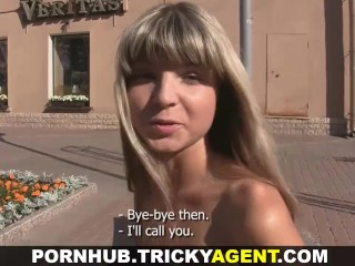 Tricky Agent - Fake blond girl is hot and ready to fuck!