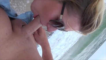 Brutal Face Fuck and Facial on Public Beach by truutruu