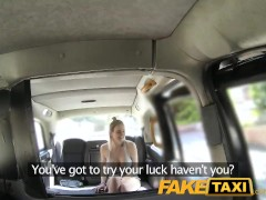 Faketaxi Cabby Tries His Beginners Luck On Hot Blonde With Big Tits