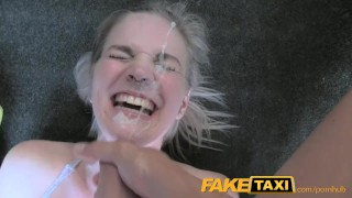 FakeTaxi Cabby tries his beginners luck on hot blonde with big tits Blowjob shaved
