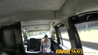 FakeTaxi Cabby tries his beginners luck on hot blonde with big tits Klein homemade
