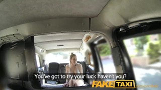 FakeTaxi Cabby tries his beginners luck on hot blonde with big tits Step sister