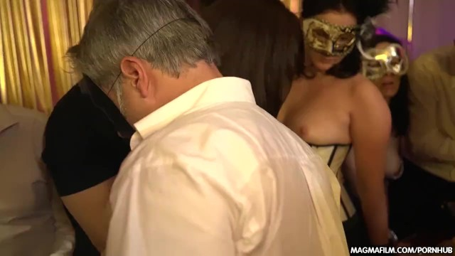 The oldest swinger in town Magma film german masquerade swingers party