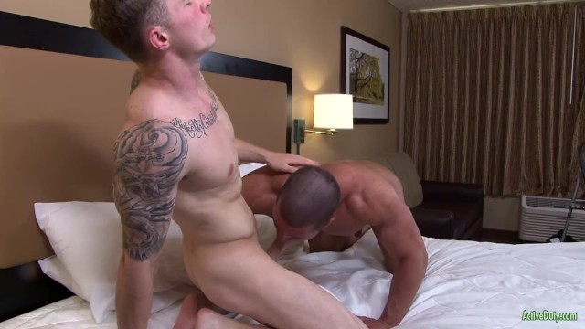 Gay anal video Active duty brads first anal ever by markie more no less