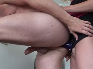Preview 5 of Wife Pegging her Husband by Huge Strapon