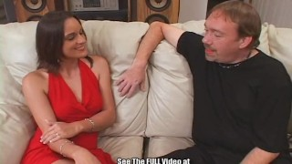 Lady double in red dirty at sexy d's fucked 3some brunette