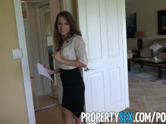 PropertySex – Insanely hot realtor flirts with client and fucks on camera