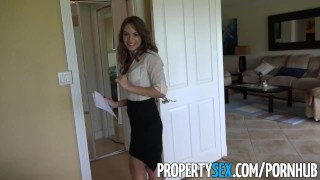 PropertySex Insanely hot realtor flirts with client and fucks on camera