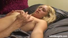 NetVideoGirls - Krista gets cum on her eye