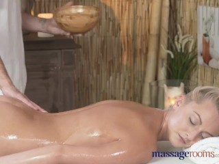 Preview 3 of Massage Rooms Horny petite blonde has her shaved hole filled up to the max