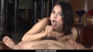 Superb Maria Ozawa blows it hard in perfect POV