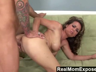 Huge Red Dildo Realmomexposed - Milf Gets Picked Up And Fucked Hard, Big Ass Big
