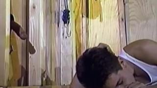 Young Stud Sucks Cocks Through Construction Site Gloryholes 2x10 (1986)