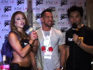 Preview 1 of PornhubTV Johnny Castle Interview at 2015 AVN Awards