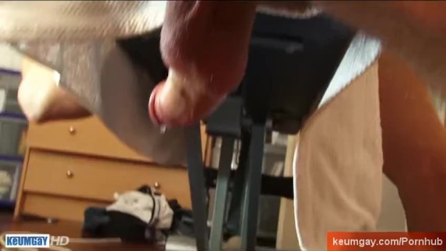 Raw rescue gay porn movie - My gym trainer lets me to wank his hige cock in a porn movie