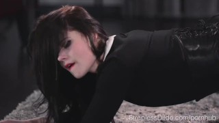 Hard is maria doll fucked pie sex starved strapon by fishnets heels
