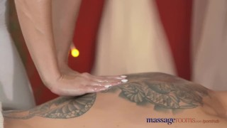 Massage Rooms Horny young Redhead gives client the fuck of his life