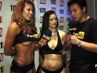 PornhubTV Katrina Jade Interview at 2015 AVN Awards
