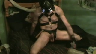 Leather FleshJack Fuck Cumshot young