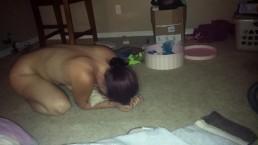 Wife Grinds On Floor