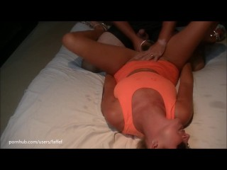 Hot wife made to drink and swap her own squirt