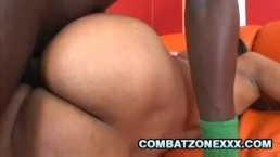Carmen Michaels - Horny Ebony Hammered By A Thick Black Cock