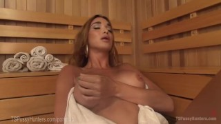 Two Sauna Strangers Anal Creampie Of yoga