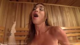 Анальный секс двух незнакомцев в сауне с окончанием
