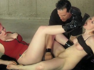 Sex Slave gets whipped and fucked by her mistress and Master
