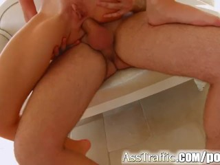 Asstraffic CeciliaВ sucks cock after anal action
