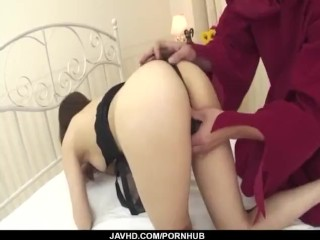 Deep pumping for Aiuchi Shioris hairy twat