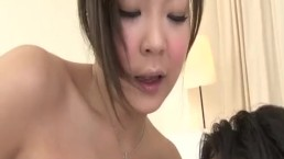 NaughtyHiyoko Morinaga uses her tits to stroke the cock